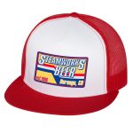 Steamworks Beer Trucker Hat (white front panel) White/Red
