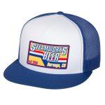 Steamworks Beer Trucker Hat (white front panel) White/Royal