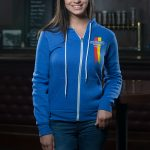 Steamworks Blue Chevron Full Zip Hoodie (f)
